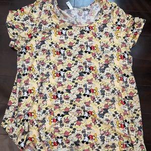 Lularoe Yellow Mickey Shirt